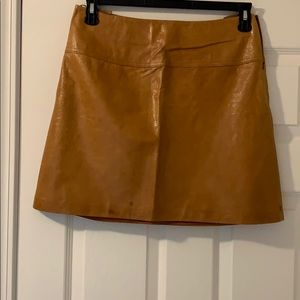 Caramel Leather mini Skirt.
